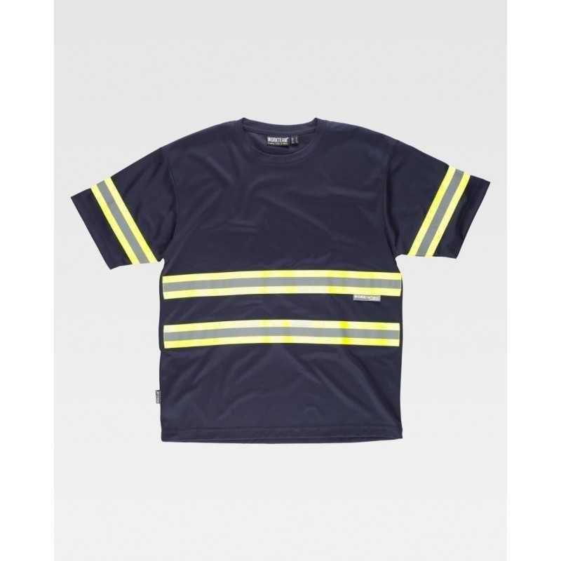 T-shirt manica corta bande rifrangenti