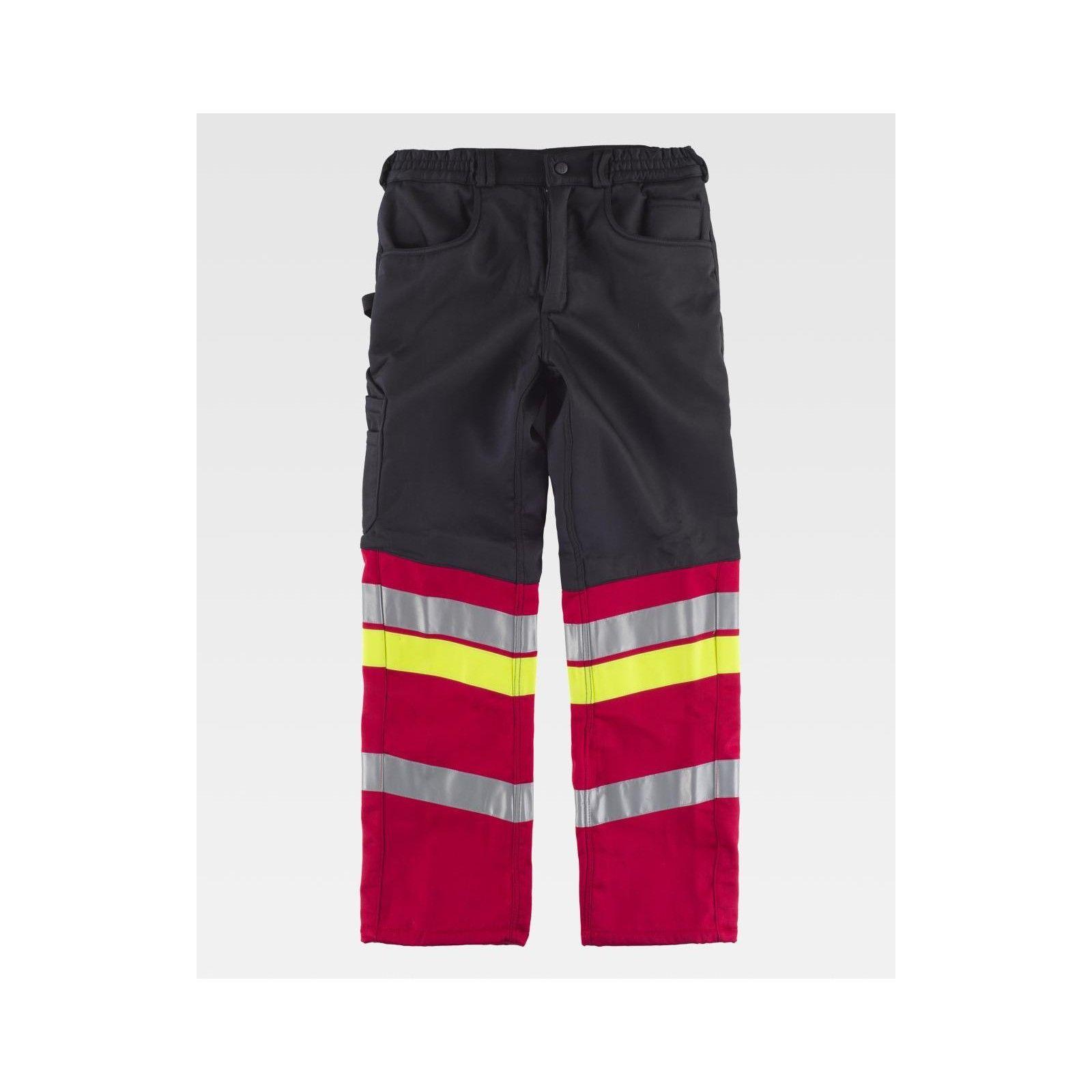 Pantalone c/pile interno multitasche c/bande Rifrangenti