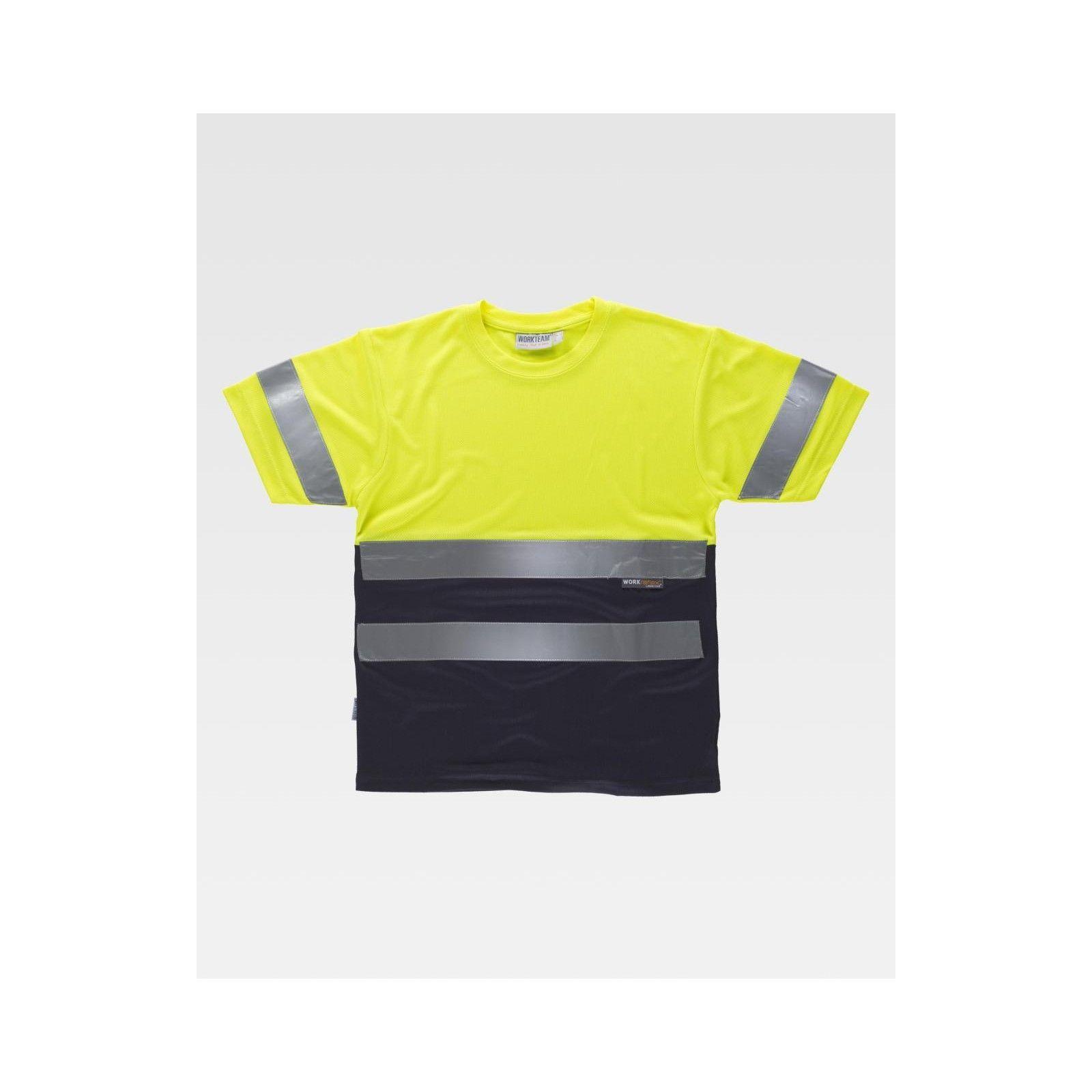 T-shirt combinata alta visibilità
